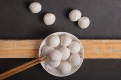 Κολλώδεις σφαίρες ρυζιού παραδοσιακού κινέζικου Στοκ εικόνα με δικαίωμα ελεύθερης χρήσης