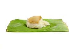 Κολλώδες ρύζι με τη βρασμένη στον ατμό κρέμα Στοκ φωτογραφία με δικαίωμα ελεύθερης χρήσης