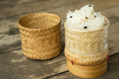 Κολλώδες ρύζι Στοκ φωτογραφία με δικαίωμα ελεύθερης χρήσης