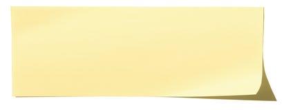 κολλώδης κίτρινος σκιών μονοπατιών εγγράφου σημειώσεων ψαλιδίσματος Στοκ Εικόνες