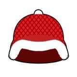 Κράνος Άγιου Βασίλη Κόκκινο στρατιωτικό σκληρό καπέλο με τη γούνα Στρατός Christm Στοκ εικόνα με δικαίωμα ελεύθερης χρήσης