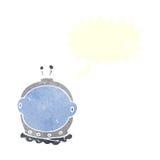 κράνος αστροναυτών κινούμενων σχεδίων με τη λεκτική φυσαλίδα Στοκ Φωτογραφίες