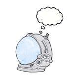 κράνος αστροναυτών κινούμενων σχεδίων με τη σκεπτόμενη φυσαλίδα Στοκ φωτογραφία με δικαίωμα ελεύθερης χρήσης