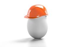 Κράνος κατασκευής αυγών Στοκ εικόνες με δικαίωμα ελεύθερης χρήσης