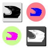 Κράνος μοτοσικλετών Επίπεδο διανυσματικό εικονίδιο διανυσματική απεικόνιση