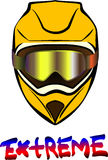 Κράνος μοτοσικλετών ελεύθερη απεικόνιση δικαιώματος