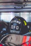 Κράνος πυρκαγιάς Στοκ Εικόνες