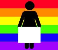 κράτημα της γυναίκας σημα&d Στοκ φωτογραφία με δικαίωμα ελεύθερης χρήσης