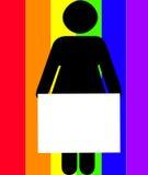 κράτημα της γυναίκας σημα&d Στοκ φωτογραφίες με δικαίωμα ελεύθερης χρήσης