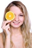 κράτημα της πορτοκαλιάς &gamma Στοκ εικόνα με δικαίωμα ελεύθερης χρήσης