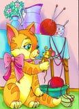 κράτημα του kittty ποντικιού Στοκ Εικόνες