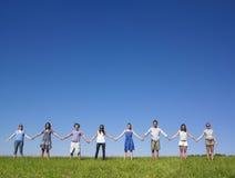 κράτημα χεριών ομάδας