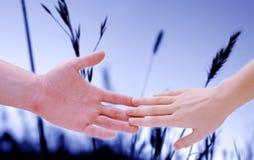 κράτημα 3 χεριών Στοκ φωτογραφία με δικαίωμα ελεύθερης χρήσης