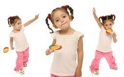 κράτημα lollipop του πνεύματος μικρών παιδιών Στοκ Εικόνα