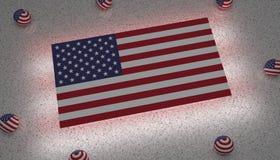 κράτη σημαίας της Αμερικής διανυσματική απεικόνιση