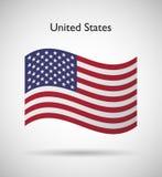 κράτη σημαίας της Αμερικής Στοκ φωτογραφία με δικαίωμα ελεύθερης χρήσης