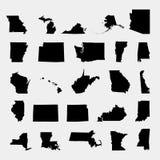 Κράτη του εδάφους της Αμερικής στο γκρίζο υπόβαθρο ελεύθερη απεικόνιση δικαιώματος
