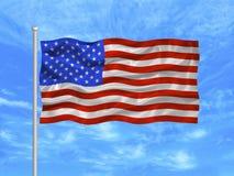 κράτη 1 σημαίας που ενώνονται στοκ φωτογραφία