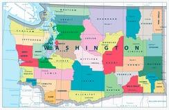 κράτος Ουάσιγκτον χαρτών Στοκ φωτογραφία με δικαίωμα ελεύθερης χρήσης