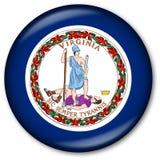 κράτος σημαίας κουμπιών Βιρτζίνια Στοκ Εικόνες