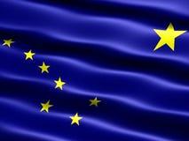κράτος σημαίας της Αλάσκ&alph Στοκ φωτογραφία με δικαίωμα ελεύθερης χρήσης