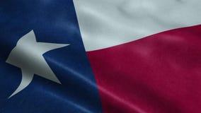 Κράτος της άνευ ραφής ζωτικότητας κυματισμού περιτύλιξης σημαιών του Τέξας απεικόνιση αποθεμάτων