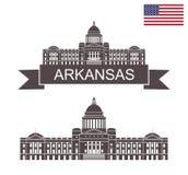 κράτος του Αρκάνσας arkansas building capitol state απεικόνιση αποθεμάτων