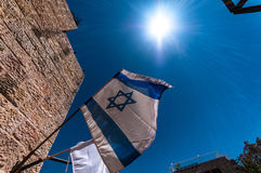 κράτος του Ισραήλ σημαιών Στοκ Φωτογραφία