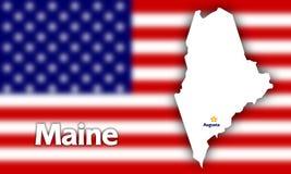 κράτος του Maine περιγράμματ&omicro Στοκ φωτογραφία με δικαίωμα ελεύθερης χρήσης