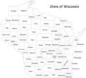 Κράτος του Wisconsin διανυσματική απεικόνιση