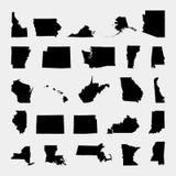 Κράτος των Ηνωμένων Πολιτειών Γκρίζα ανασκόπηση επίσης corel σύρετε το διάνυσμα απεικόνισης ελεύθερη απεικόνιση δικαιώματος