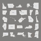 Κράτος των Ηνωμένων Πολιτειών Γκρίζα ανασκόπηση επίσης corel σύρετε το διάνυσμα απεικόνισης διανυσματική απεικόνιση