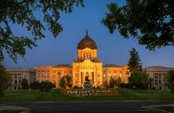 Κράτος Capitol της Μοντάνα τη νύχτα Στοκ Εικόνες