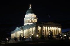 Κράτος Capitol του Utah τη νύχτα Στοκ Φωτογραφία