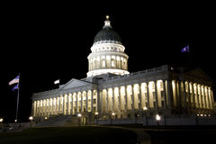 κράτος Utah νύχτας capitol Στοκ εικόνες με δικαίωμα ελεύθερης χρήσης