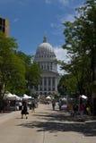 κράτος Wisconsin του Μάντισον capitol στοκ εικόνες