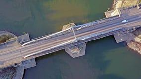 Κράφελντ, Γερμανία - 15 Φεβρουαρίου 2017: Ο ιστορικός σύρει τη γέφυρα συνδέει Linn με το λιμάνι του Ρήνου στο Κράφελντ, Γερμανία απόθεμα βίντεο
