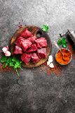 κρέας βόειου κρέατος ακ&al Φρέσκο τεμαχισμένο κόντρα φιλέτο βόειου κρέατος Στοκ εικόνα με δικαίωμα ελεύθερης χρήσης