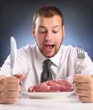 κρέας δαγκωμάτων στοκ εικόνες