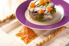 κρέας ζελατίνας ψαριών στοκ εικόνες