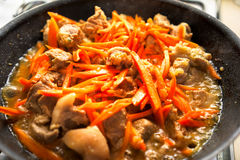 Κρέας και καρότο στοκ εικόνες με δικαίωμα ελεύθερης χρήσης