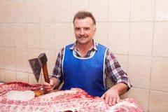 Κρέας και χασάπης Στοκ εικόνα με δικαίωμα ελεύθερης χρήσης