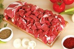 κρέας κατατάξεων ακατέργ&alph Στοκ Φωτογραφίες