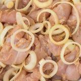 κρέας κοτόπουλου ακατέ&rh Στοκ Εικόνες