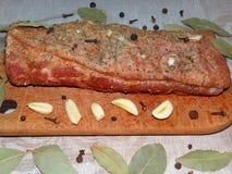 Κρέας με τα καρυκεύματα Στοκ Εικόνες