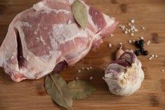 Κρέας με το χοιρινό κρέας Στοκ Φωτογραφία