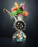 Κρέας-μπαλτάς με τα λαχανικά στοκ εικόνες