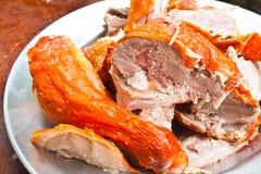 κρέας παπιών που τεμαχίζετ Στοκ Εικόνες