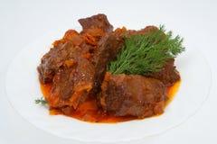 κρέας πιάτων Στοκ Φωτογραφία