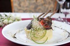 κρέας πιάτων Στοκ Εικόνες